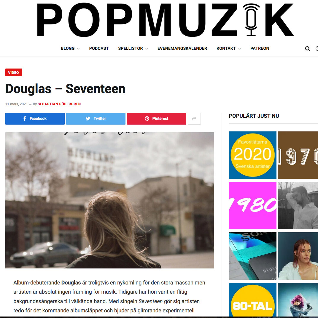 """Pop Muzik """"Seventeen"""""""